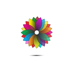 Abstract flower geometrical vector