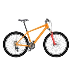 Orange bike vector