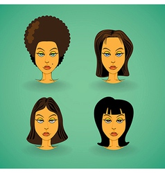 Women model hairstyle vector