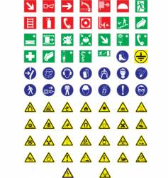 Information signs vector