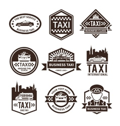 Taxi black label set vector
