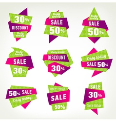 Set stickers labels and banners vector