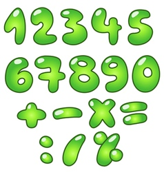 Eco bubble numbers vector