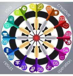 Business target marketing dart idea creative vector