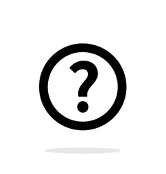 Question icon on white background vector