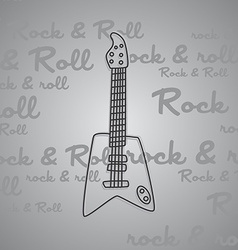Rock and roll guitar theme vector