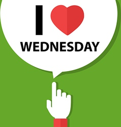 I love wednesday forefinger with bubble vector