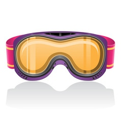 Mask for snowboarding and ski vector