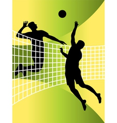 Volleyball players vector