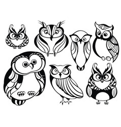 Decorative owls vector