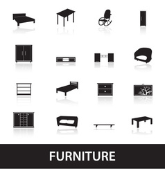 Furniture types icons eps10 vector