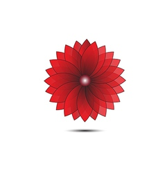 Abstract flower red geometrical vector