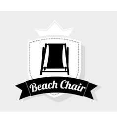 Beach chair design vector