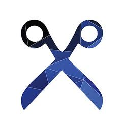 Scissors icon abstract triangle vector