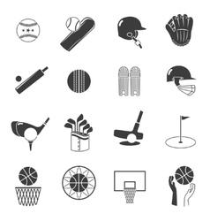 Sport icons black set vector