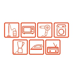 Domestic icons set vector