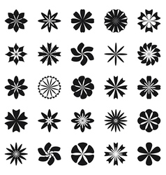 Flower symbol set vector
