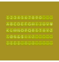 Flat green paper countdown timer vector