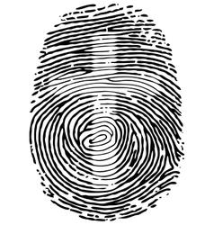 Thumb print vector