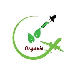 Organic icon green vector
