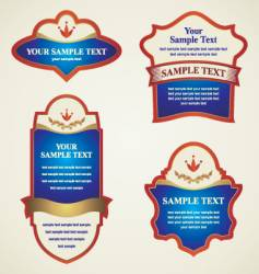 Label banner vector