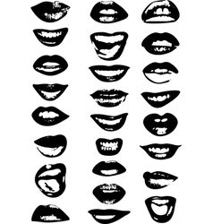 Lips set woman vector