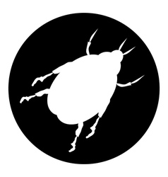 Beetle button vector