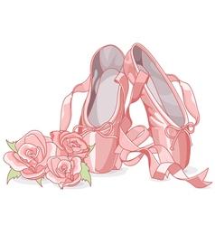 Beautiful ballet slippers vector