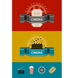 Retro cinematography banners vector