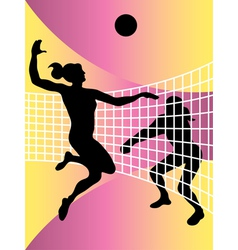 Volleyball women vector