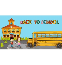 Colorful back to school education cartoon vector