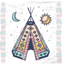 Tribal native american set of symbols vector