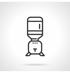 Flat line cooler icon vector