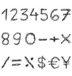 Scribble numbers vector