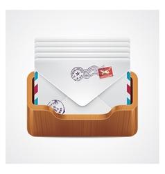 Mailbox icon vector
