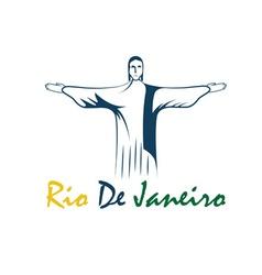 Rio de janeiro with jesus christ vector