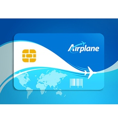 Airplane flight tickets air fly sky blue travel vector