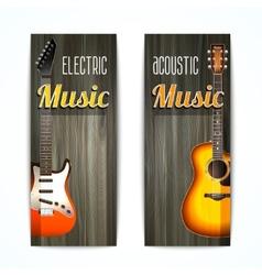 Music banner set vector