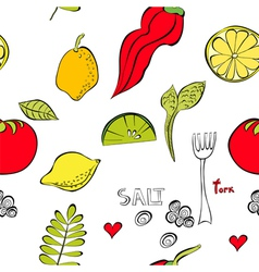 With fruit and vegetable vector
