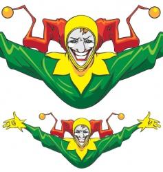 Joker man vector