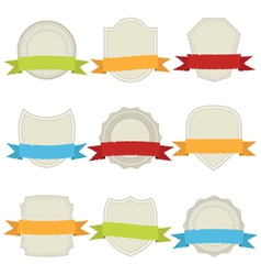 Plaques and ribbons vector