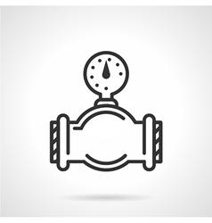Flat line gauge icon vector