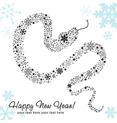 Snake newyear card white vector