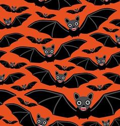 Vampire bats on orange background vector