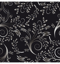 Seamless background black and white vector