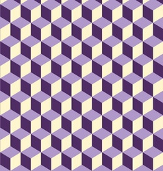 Abstract isometric violet cube pattern background vector