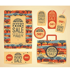 Design set for autumn sale vector