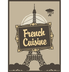 French cuisine vector