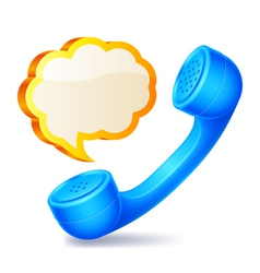 Handset and speech bubble vector