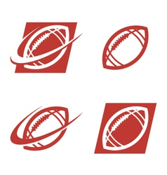American football logo icons vector